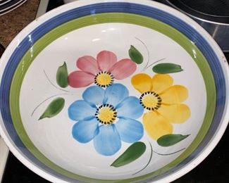 VINTAGE IRONSTONE FLORAL SERVING BOWL