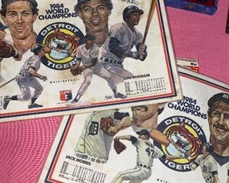 ELIAS BROTHERS 1984 WORLD CHAMPIONS DETROIT TIGERS PLACEMATS