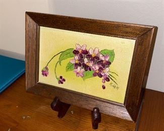 VINTAGE FRAMED FLOWER PICTURE