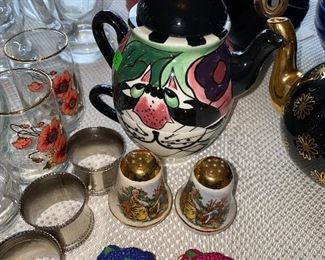 TEAPOTS AND SALT & PEPPER SHAKERS