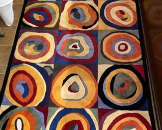 MODERN COLORFUL CIRCLES AREA RUG