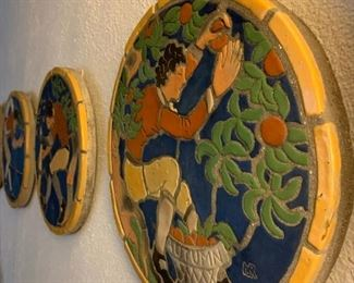 Moravian Pottery and Tile Works, Season's Mosaics, Set of Four
