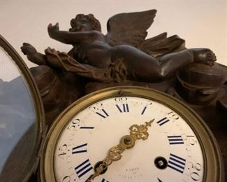 American Rococo Carved Wall Clock, Attributed to Geo. J Henkels / Paris and Philadelphia