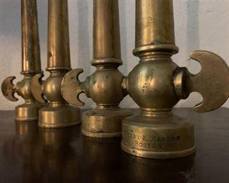 Brass Fire Nozzle, Henry K Barnes, Boston