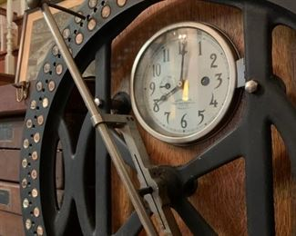United Shoe Manufacturing Corp Beverly, MA Time Clock from International Time Recording Co