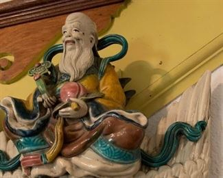 Chinese Glazed Roof Tiles, Used to Scare Away Evil Spirits