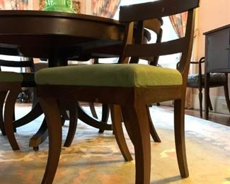 Rounded Back Mahogany Side Chairs