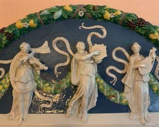 In the Style of Della Robbia, Three Musicians