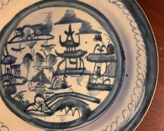 19th c Chinese Porcelain Plates, Canton Export