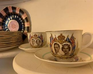 Commemorative Tea Cups of Queen Elizabeth's and King George VI's Visit to USA,1939