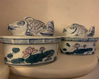 Chinese Lidded Dish with Fish