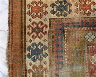 Antique Kazak Area Rug, 1870's