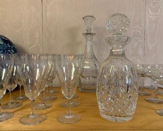 Antique Stemware, Crystal Decanters