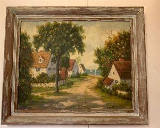 John Everett, Oil on Canvas Board