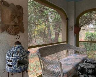 Wicker Patio Set, Garden Stools