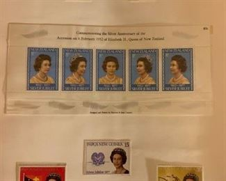25th Anniversary of the Coronation of Queen Elizabeth Stamps