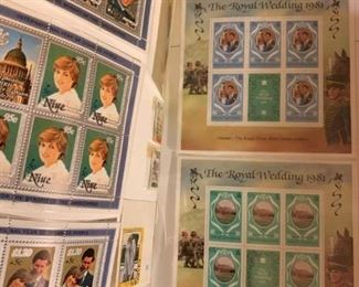 Princess Diana Royal Wedding Stamps