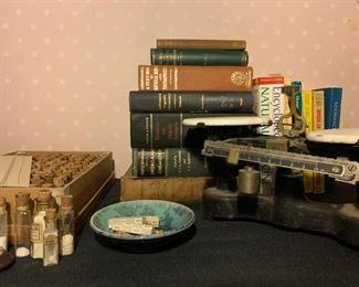 Cenco Scale, Apothecary Homeopathic Medicine Books