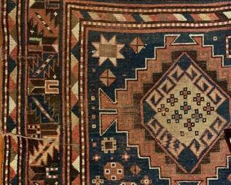 Antique Tribal Caucasian Area Rug