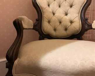 Chippendale Tufted Back Armchair