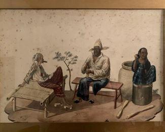 China Trade, Watercolor, 19th c
