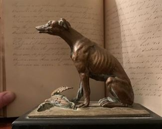 Dog with Duck, Statue