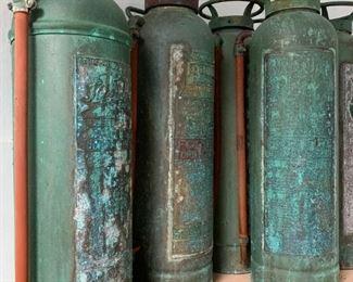 Copper Antique Fire Extinguishers