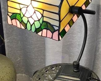 Vintage Stained Glass Desk Lamp