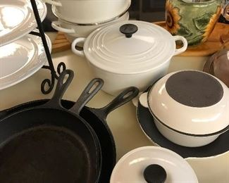 Le Creuset and Cast Iron Frying Pans
