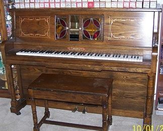 Cabaret player piano and rolls