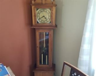 This grandfather clock was a kit that the owner put together