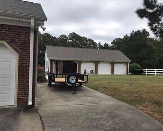 Large 4 car garage and shop