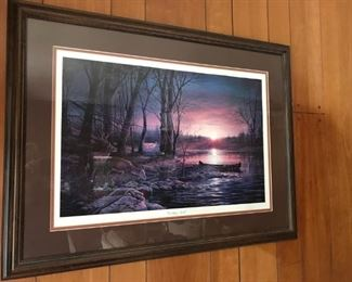 "Terry  Redlin "" Morning Glow""  Signed and numbered 339/960"