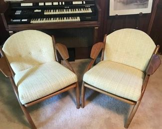 These Mid century chairs are by Adrian Pearsall. They are in excellent condition and realistically priced!