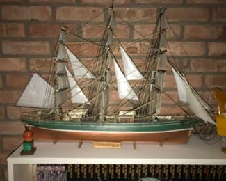 "Thermopylae wooden ship.  30"" long and 21"" high"