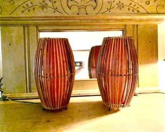 Vintage Bamboo Lamps