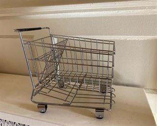 Miniature grocery cart