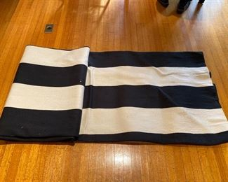 Crate & Barrel black and white striped rug
