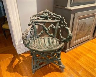 antique twig and root chair