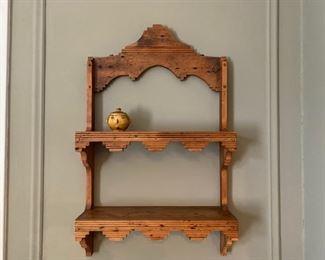 folk art shelf