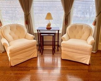 Pr. swivel chairs