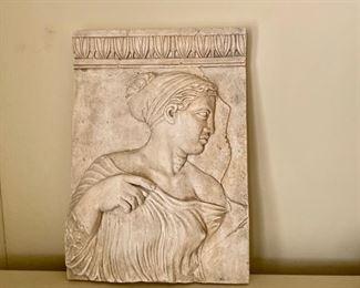 plaster relief plaque