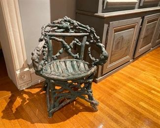 Antique twig & root chair