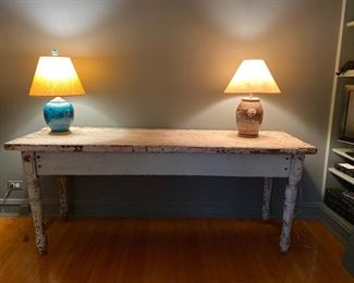 painted harvest table