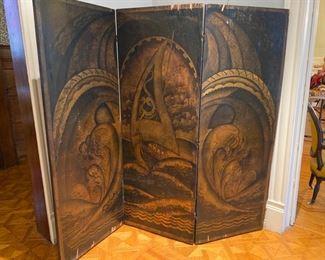 painted floor screen