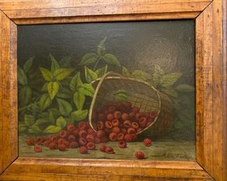 Antique oil painting by Alice Foster