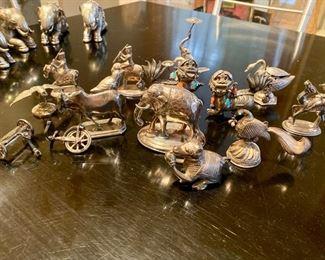 antique silver miniatures