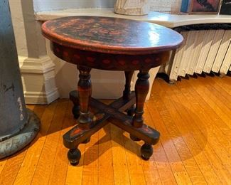 Russian painted side table