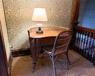 Antique rattan desk (top needs work)