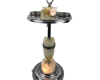 Lot 001 1920's Smoking Stand With Lighter & Lights Up
